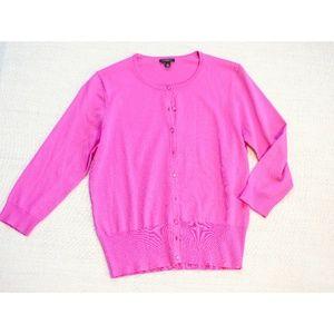 🆕 Ann Taylor Pink Cardigan Button Down Size M